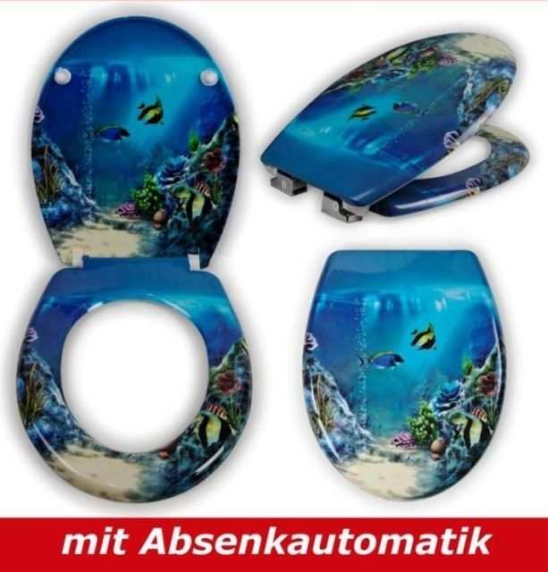 wc toiletten sitz mit absenkautomatik aquarium big one sale. Black Bedroom Furniture Sets. Home Design Ideas