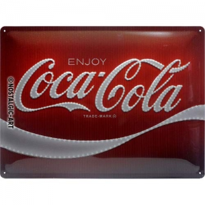 Blechschild-3D---COCA-COLA-ENJOY---LOGO-RED-LIGHTS