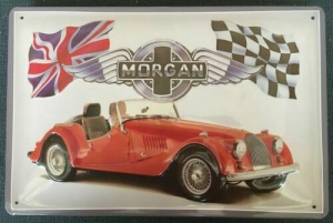 Blechschild-3D---MORGAN-ROADSTER-ROT