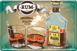 Blechschild---RUM-1912---ORIGINAL-QUALITY