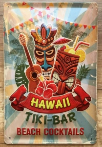 Blechschild-3D---TIKI-BAR-HAWAII-BEACH-COCKTAILS