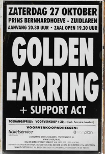 Rusty-Blechschild---GOLDEN-EARRING--SUPPORT-ACT-lieferbar-in-3-versch-Grssen