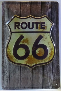 Blechschild-3D---ROUTE-66-HIGHWAY-USA