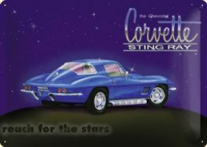 Blechschild-3D---CORVETTE-STING-RAY