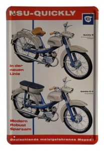 Blechschild---NSU-QUICKLY-MOPED