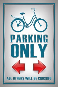 Blechschild---VELO-PARKING-ONLY