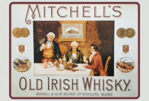 Blechschild---MITCHELLS-OLD-IRISH-WHISKY