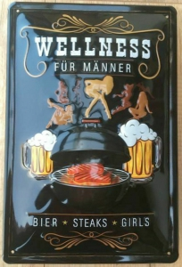 Blechschild-3D---WELLNESS-FR-MNNER----BIER-STEAKS-GIRLS