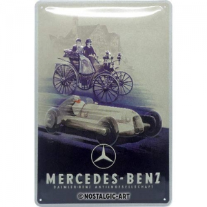 Blechschild-3D---MERCEDES-BENZ---SILVER-ARROW-HISTORIC