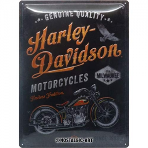 Blechschild-3D---HARLEY-DAVIDSON---TIMELESS-TRADITION