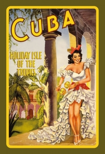 Blechschild---CUBA---HOLIDAY-ISLE-OF-THE-TROPIC