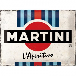 Blechschild-3D---MARTIN---L-APERITIVO-RACING-STRIPES