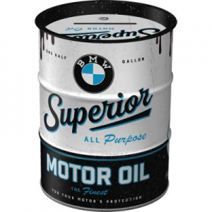 Oelfass-Design-Spardose---BMW---SUPERIOR-MOTOR-OIL