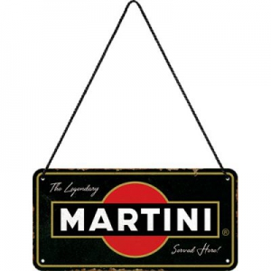 Metall-Hngeschild---MARTINI-SERVED-HERE