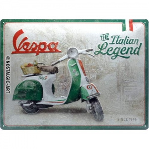 Blechschild-3D---VESPA---THE-ITALIAN-LEGEND