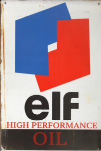 Rusty-Blechschild---ELF-HIGH-PERFORMANCE-OIL