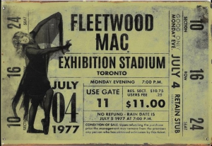 Rusty-Blechschild---FLEETWOOD-MAC-EXHIBITION-STAD-TICKET-lieferbar-in-3-versch-Grssen