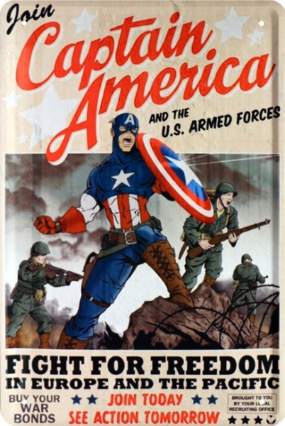 Bild 1 von Blechschild - CAPTAIN AMERICA FIGHT FOR FREEDOM