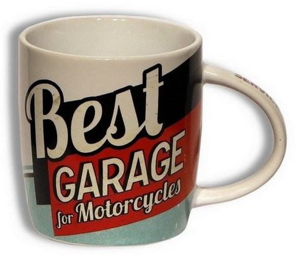 Bild 1 von Keramik Kaffeetasse - BEST GARAGE FOR MOTORCYCLES