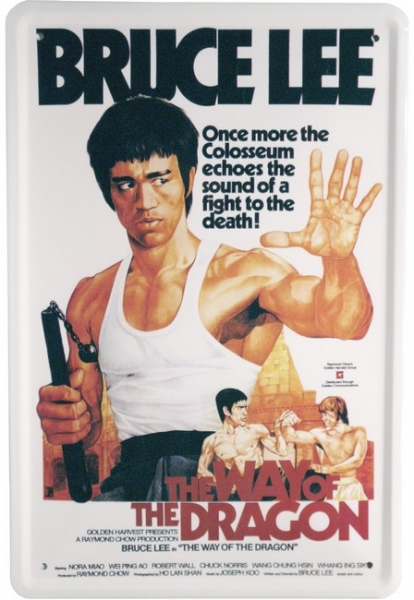 Bild 1 von Blechschild - BRUCE LEE - THE WAY OF THE DRAGON