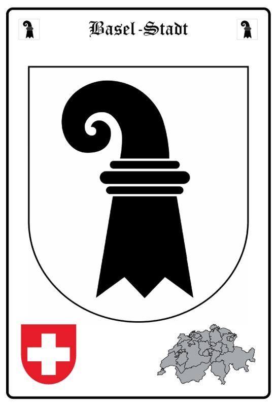 Blechschild Wappen Basel Stadt Big One Sale