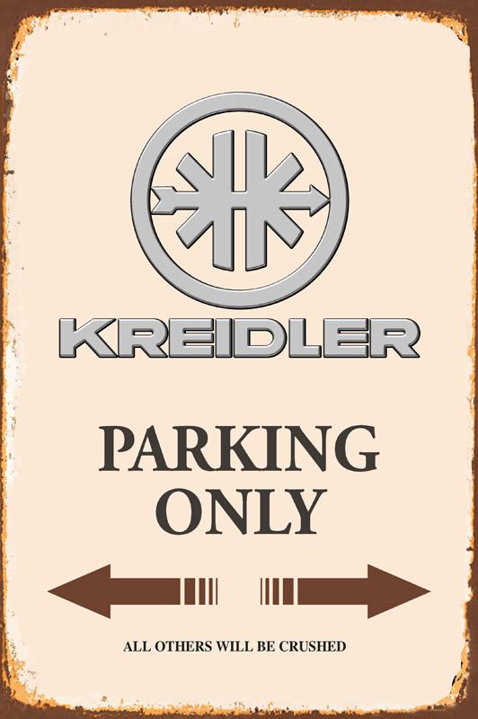 Blechschild 30 X 20 cm Kreidler Parking Only