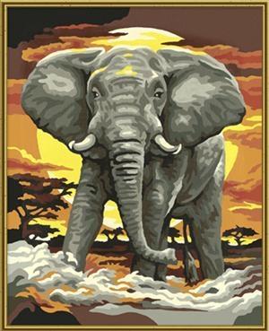 Malen Nach Zahlen Für Kinder Pasim Der Elefant