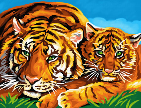 Malen Nach Zahlen Tiger