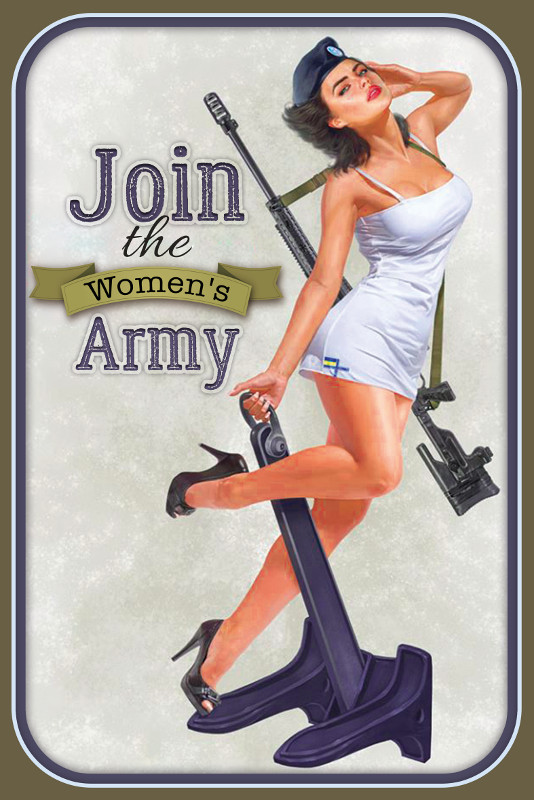 Bild 1 von Blechschild - JOIN THE WOMEN`S ARMY PIN UP GIRL