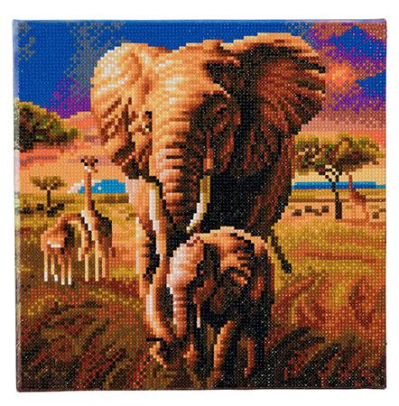 Malen Nach Zahlen Elefanten In Der Savanne