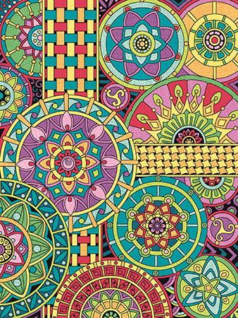 Malen Nach Zahlen Mandala Kollage