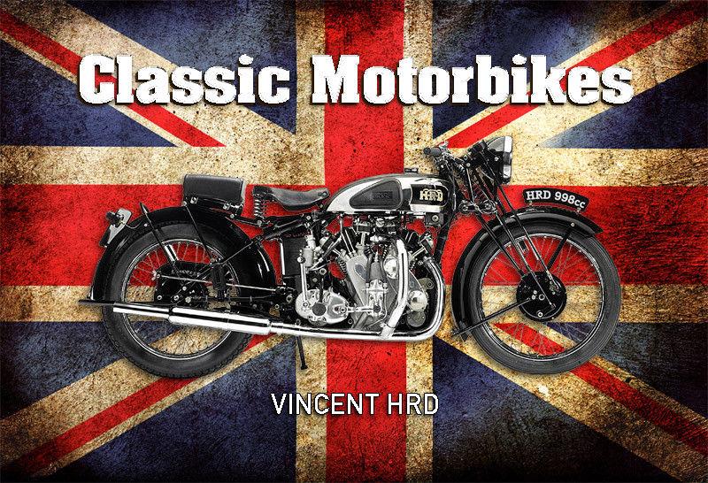Blechschild 30 X 20 cm Motorrad Victoria Bergmeister