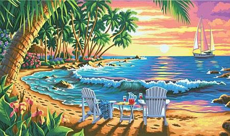 Malen Nach Zahlen Sonnenuntergang Am Strand Big One Sale