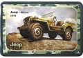 Blechschild - JEEP WILLYS 1942 US ARMY