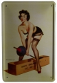 Blechschild - BODY BUILDING SEXY PIN UP GIRL