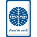 Blechschild 3D - PAN AM - TRAVEL THE WORLD - LOGO
