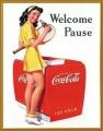 Nostalgie Blechschild - COCA COLA - WELCOMPE PAUSE TENNIS