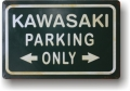 Rusty Blechschild - KAWASAKI PARKING ONLY