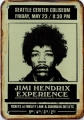 Rusty Blechschild - JIMMI HENDRIX SEATTLE - 30X40CM