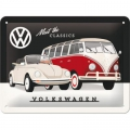 Blechschild 3D - VW KÄFER & BULLI - MEET THE CLASSICS