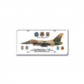Blechschild - F-16 C FIGHTING FULCRUM