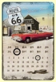 Nostalgie Blechschildkalender - ROUTE 66 - THE MOTHER ROAD