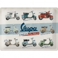 Blechschild 3D - VESPA - A SMALL CAR ON 2 WHEELS