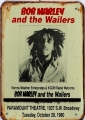 Rusty Blechschild - BOB MARLEY AND THE WAILERS - 1980 - 20x30cm