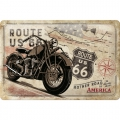 Blechschild 3D - ROUTE 66 - MOTHER ROAD OF AMERICA