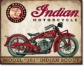 Blechschild - INDIAN MOTORCYCLE - MODEL 101 INDIAN SCOUT