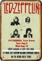 Rusty Blechschild - LED ZEPPELIN - PITTSBURGH - 20X30CM