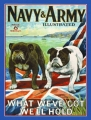 Nostalgie Blechschild - NAVY & ARMY ILLUSTRATED - 2 HUNDE