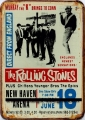 Rusty Blechschildkarte - ROLLING STONES - NEW HAVEN ARENA 30X40CM