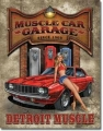 Nostalgie Blechschild - MUSCLE CAR GARAGE SINCE 1969